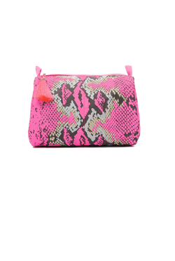 Mercy Delta Python Pink Medium Cosmetic Bag - Travel Essentials - PEEPING-T
