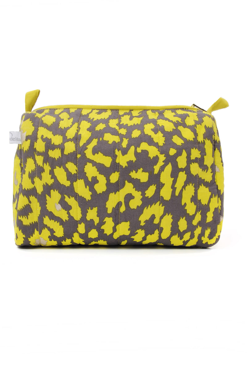 Designer Brand: Mercy Delta Product: Mercy Safari Lime Small Cosmetic Bag
