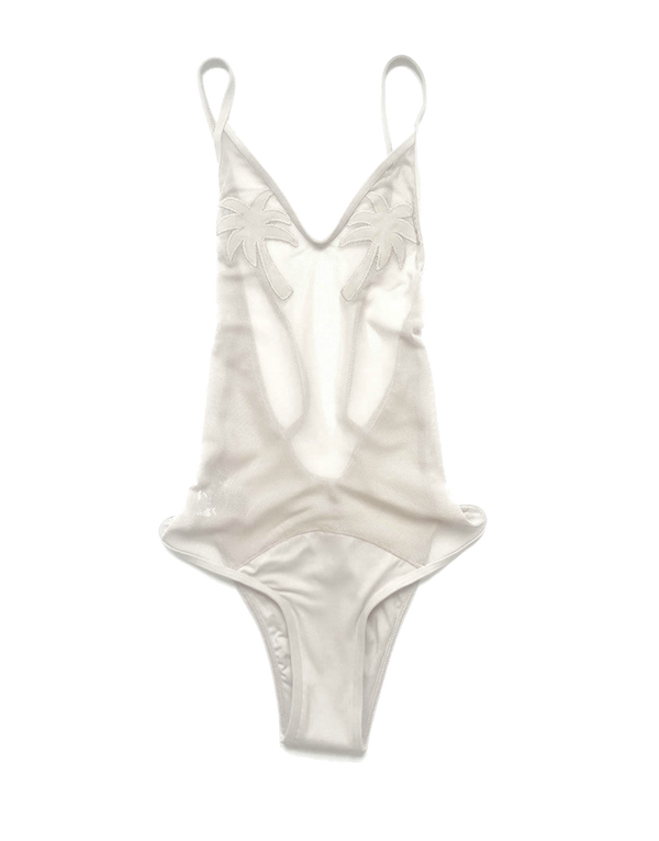 Designer Brand: Minimale Animale Product: Golden Triangle One Piece Swimsuit - Sea Salt