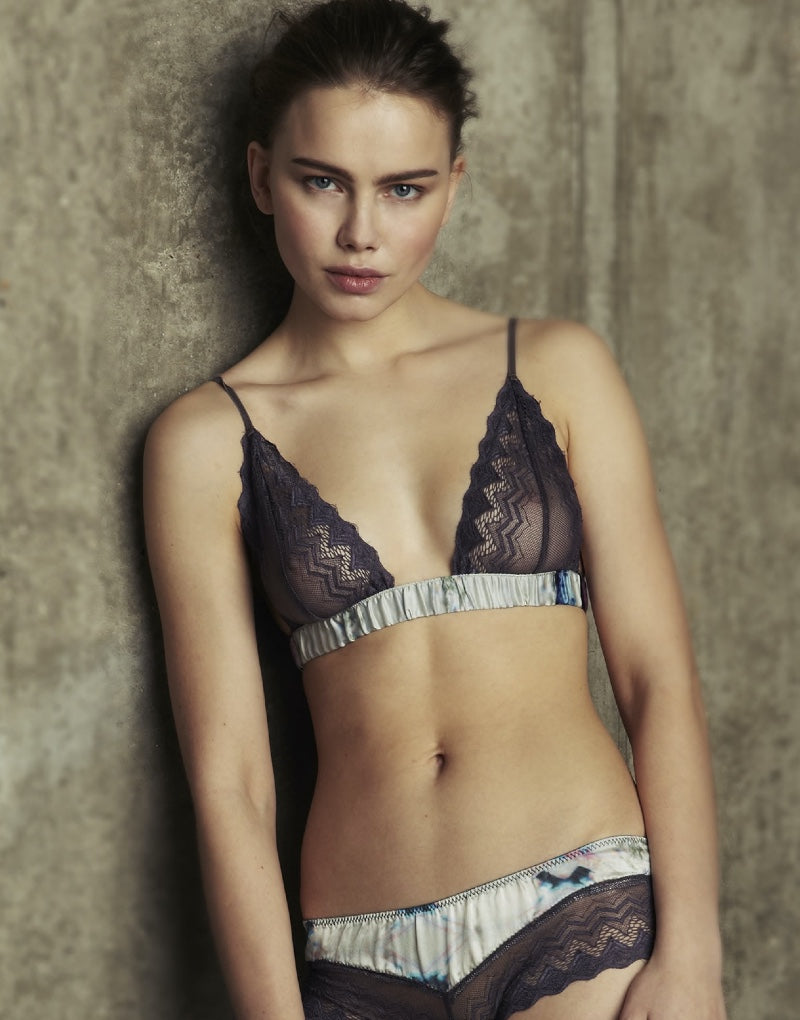 Designer Brand: Beautiful Bottoms by Asceno Product: Ethereal Soft Cup Silk & Lace Bra