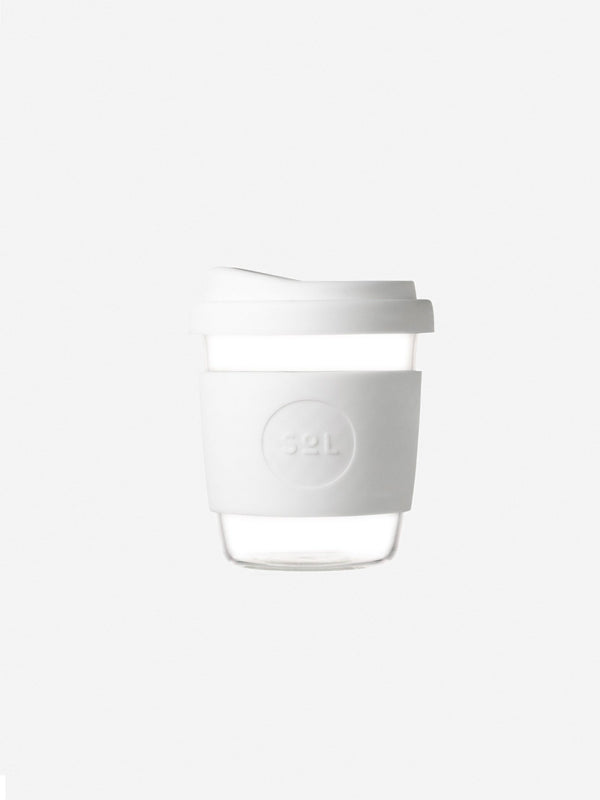Designer Brand: SoL Cups Product: 8oz White Wave Reusable Cup