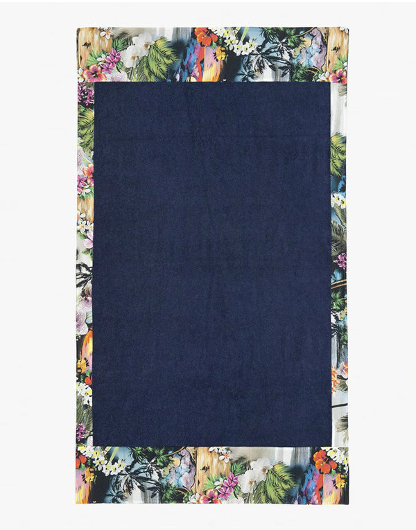 Designer Brand: Sun of a Beach Product: Sun of a Beach Hawaiian Tropic Beach Towel - Blue