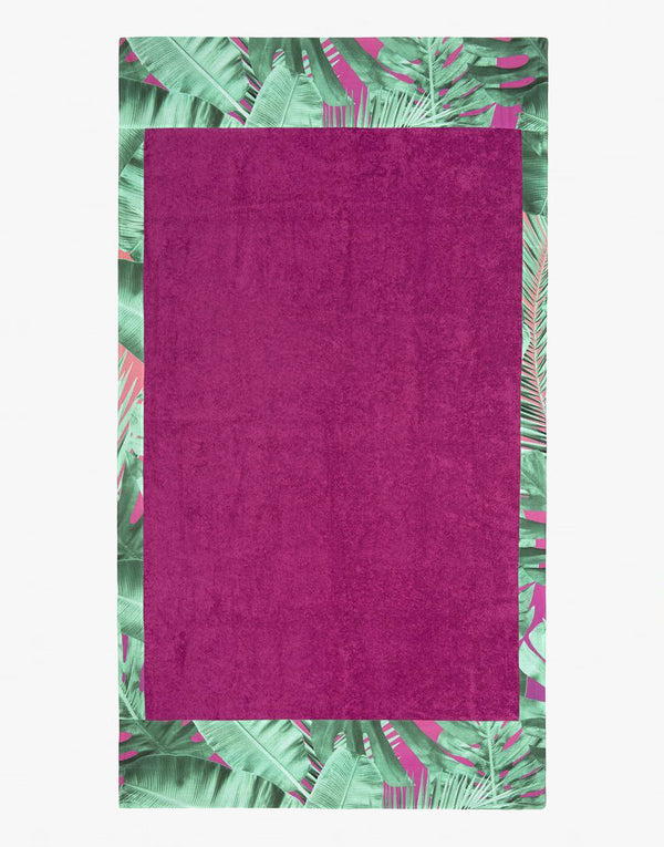 Designer Brand: Sun of a Beach Product: Sun of a Beach Hawaiian Tropical Orgasm Beach Towel - Fuchsia