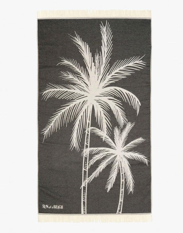 Sun of a Beach Palm Beach Feather Beach Towel - PEEPING-T