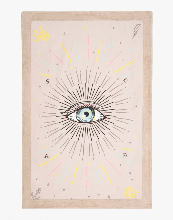 Sun of a Beach Third Eye Signature Beach Blanket - PEEPING-T