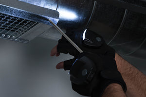 LEDLife.US KC LED Light Gloves using a screw driver at night