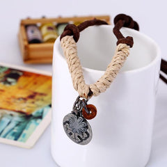Vintage Genuine Leather Necklace For Men