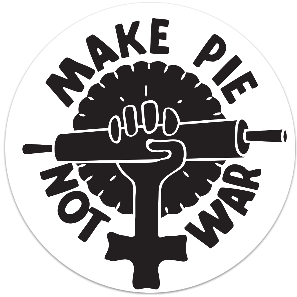Make Pie Not War Sticker