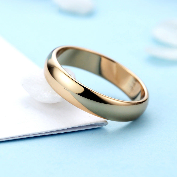 Fashion Simple Unisex Ring Silver Gold Color Wedding Band Rings Men