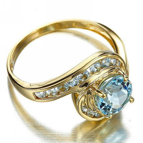 Size 610 Blue Topaz Womens Wedding Rings R0018 Prcolux Jewelry