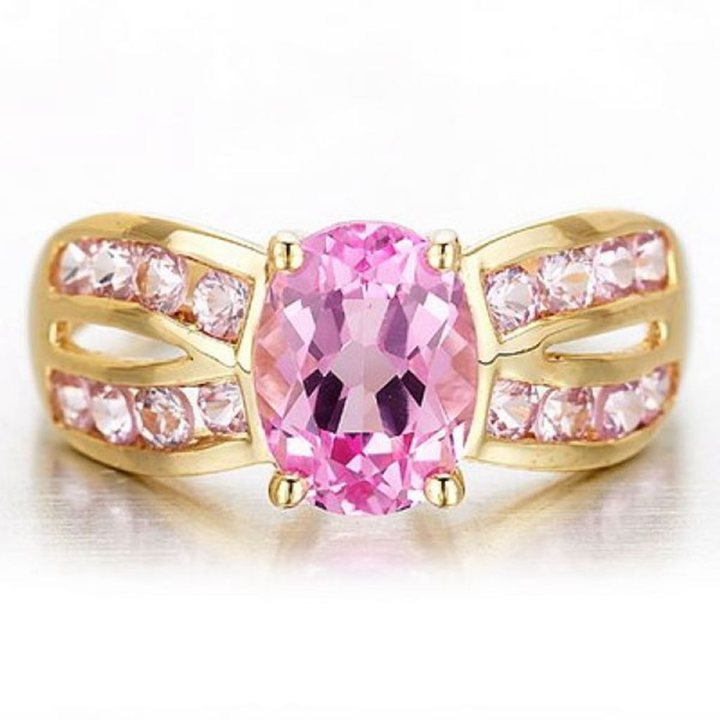 Size 6-9 Pink Topaz Womens Wedding Rings R0022 – Prcolux Jewelry