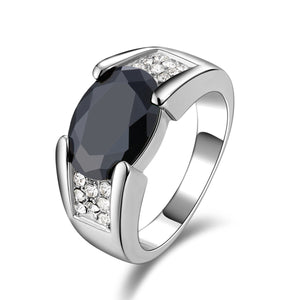 Size 811 Black Topaz Mens Wedding Rings R0001 Prcolux Jewelry