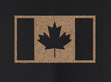 Full-Zip Hooded Sweatshirt w/ Embroidered Canadian Military Flag