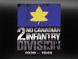 2nd Canadian Infantry Divison Army World War 2 Vehicle Bumper Sticker