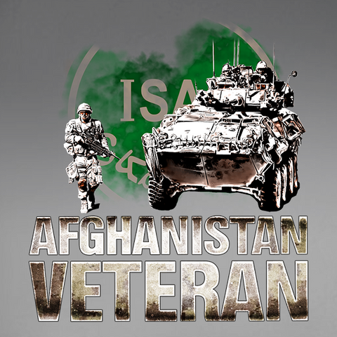 Afghanistan Veteran w/ ISAF Patch Decal