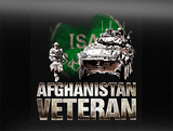 Afghanistan Veteran w/ ISAF Patch Vehicle Bumper Sticker