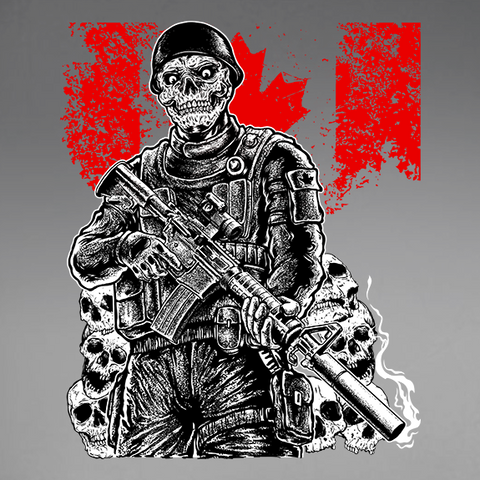 Soldier Bone Pile Decal
