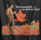 We Shall Not Sleep Canadian Memorial T-Shirt