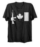 C7 Rifle Canada Flag T-Shirt