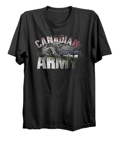 Canadian Army C9 Light Machine Gunner T-Shirt