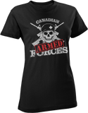 Armed Forces Skull & Crossed Rifles Women's T-Shirt