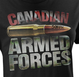 "Armed Forces ""Sorry"" Bullet Women's T-Shirt"
