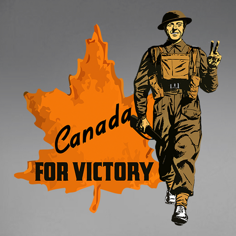 Canada For Victory V2 Decal