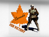 Canada For Victory V2 Vehicle Bumper Sticker