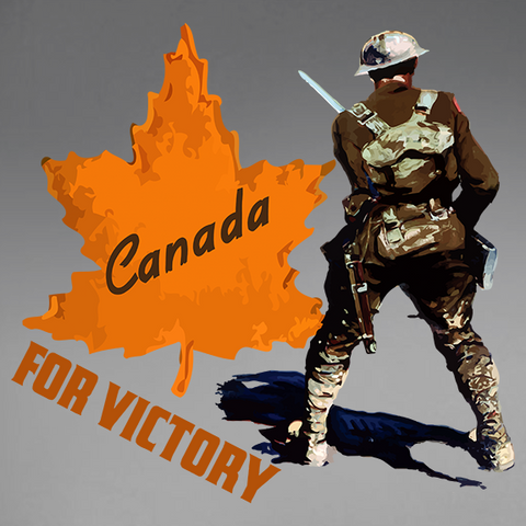 Canada For Victory V4 Decal