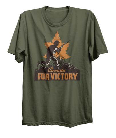 Canada For Victory v4 World War 2 Attack T-Shirt