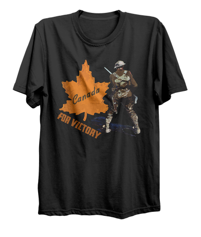 Canada For Victory World War 1 Bayonette Soldier T-Shirt