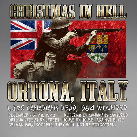 Ortona Christmas in Hell World War 2 Decal