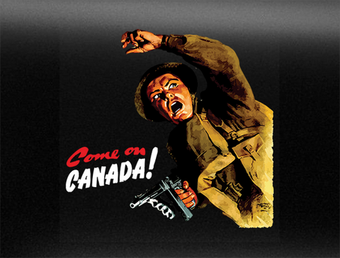 Come on Canada World War 2 Vehicle Bumper Sticker