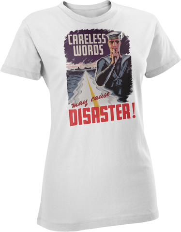 Careless Words WW2 Navy Women's T-Shirt
