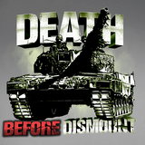Death Before Dismount Tank/LAV/Coyote Window Decal