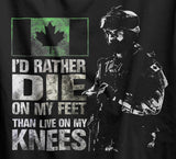 Die On My Feet Canadian Military T-Shirt