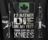 Die On My Feet Mk. 2 C6/C7 Canadian Military T-Shirt