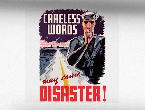 Careless Words World War 2 Vehicle Bumper Sticker