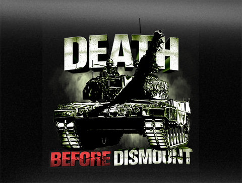 Death Before Dismount Vehicle Bumper Sticker