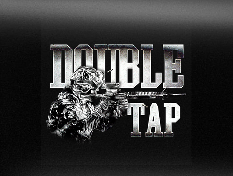 Double Tap Vehicle Bumper Sticker