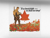 We Shall Not Sleep World War 1 Vehicle Bumper Sticker