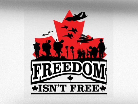 Freedom Isn't Free V3 Vehicle Bumper Sticker