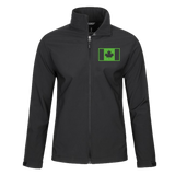 Men's Softshell Jacket w/ Embroidered Military Flag