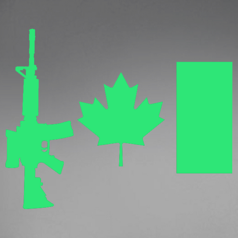 Copy of C7 Rifle Flag (Green) Window Decal