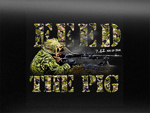 Feed The Pig C6 Vehicle Bumper Sticker