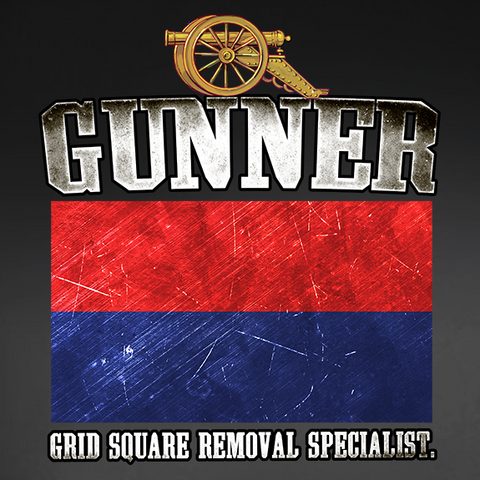 Gunner Grid Square Removal Specialist Window Decal