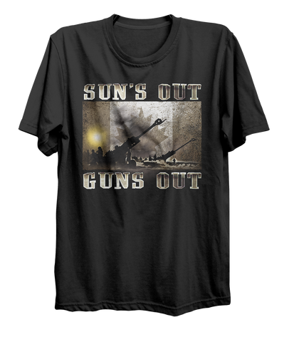 Suns Out Guns Out Artillery T-Shirt