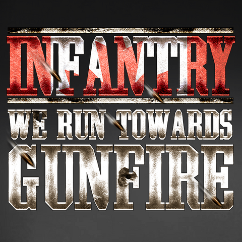 Infantry Run Towards Gunfire Window Decal
