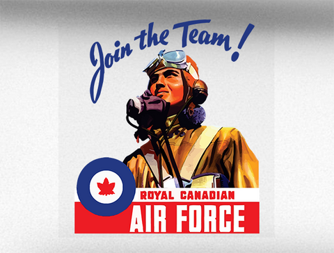 Join The Team RCAF Canadian Air Force World War 2 Bumper Sticker