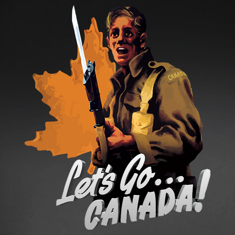 Let's Go Canada World War 2 Recruitment Window Decal